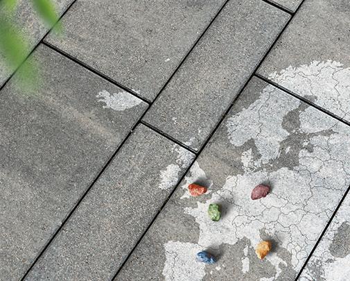 Pflastersteine aus Beton -
